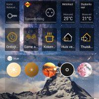 Alle apparaten en apps overzichtelijk in een app Smart home widgets op startscherm